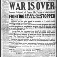 newspaper- War is Over