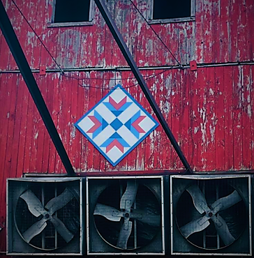 Barn with Arrow's Tail Quilt Cropped